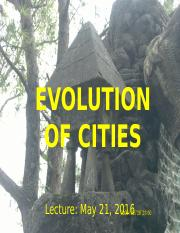 Lect 01. Evolution of Cities