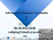 Advanced Accounting ch6