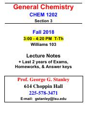 Chem 1202 note packet pdf - General Chemistry CHEM 1202 Section 3