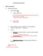 5 Psychological Disorders OUTLINE.doc