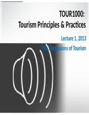 TOUR1000 Lecture 1