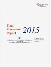 Final Placement Report 2015