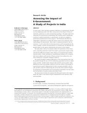 Assessing the Impact of - india