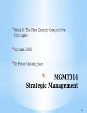 MGMT314 Week 5 2016 Autumn Massingham Student version