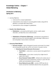 Chapter 7 Knowledge Outline