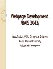 webpage dev chapter 1.ppt