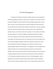 The First Ethnographer