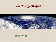 Lecture 6 - The Energy Budget (1.29.15)