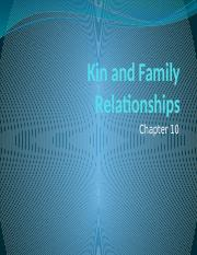 chapter10- Kin relations