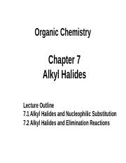 Student_Chapter 7.1 Alkyl Halides and Nucleophilic Substitution