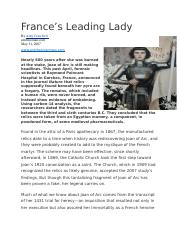 France's leading lady - news article.docx
