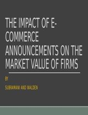 The Impact of E-Commerce Announcements on the Market Value of Firms.pptx