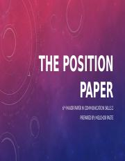 The position paper