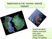 RIBOZYMES IN THE  HUMAN  DISEASE  THERAPY