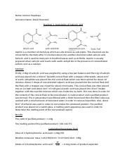 Practical 3-Acetylation of Salicylic acid
