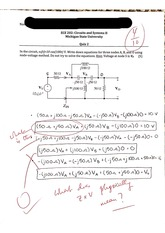 Node Voltage Method Quiz
