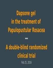 Dapsone and Rosacea