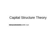 Capital Structure - MM Theory (ppt)
