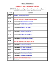 2045L SCHEDULE Spring 2010 syllabi