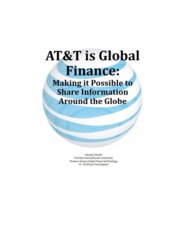 AT&T is Global Finance_Making it Possible to Share Information Around the Globe_Wendy Martin