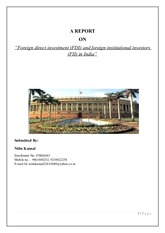 """Foreign direct investment (FDI) and foreign institutional investors"