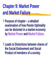 ECN 203 (9), Market Power and Market Failure.ppt