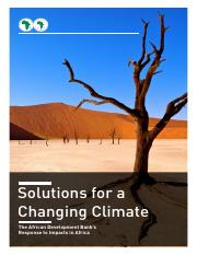 The Solutions for a Changing Climate The African Development Bank's Response to Impacts in Africa.pd