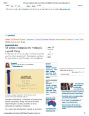 Of course compulsory voting is a good thing _ Van Badham _ Comment is free _ theguardian