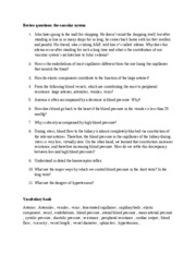Blood vessels Study guide 2