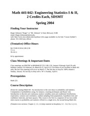 Syllabus Math 441-442 Sp04