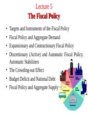 Lecture 5. Fiscal Policy