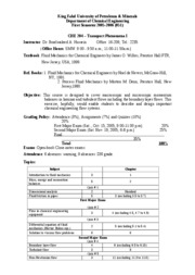 KING FAHD UNIVERSITY CHEMICAL ENGINEERING COURSE NOTES (Fluid Mechanics)-4-1