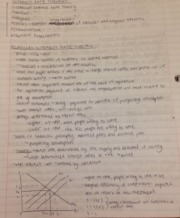 Econ 122 Notes - classical interest rate theory