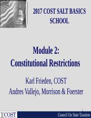 Module 2 Constitutional Restrictions.ppt