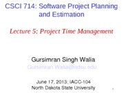 Lecture5 - Project Time Management