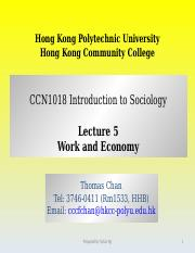CCN1018 Lecture 5 Work and Economy.ppt