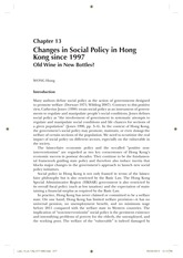 Contemporary Hong Kong Government and Politics_Chapter13