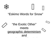 Eskimo Words for Snow moodle-2