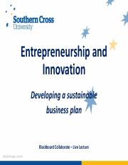 4.1-Developing a sustainable business plan