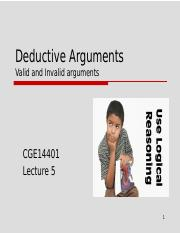 CGE14401 - Lecture 5 (Valid and Invalid Arguments)