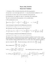 Phys 362k 2014 HW5 Solutions