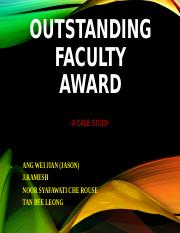 OUTSTANDING FACULTY AWARD - FINAL as of 29 Oct 2015