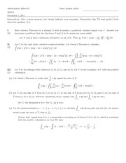 Quiz F Solutions on Differential and Integral Calculus