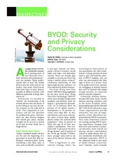 BYOD - Security and Privacy Considerations – by Miller, Voas, and Hurlburt