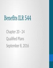 PPT20-24 Qualified Benefit Plans and Savings September 8, 2016