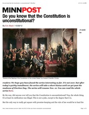 Do you know that the Constitution is unconstitutional? | MinnPost