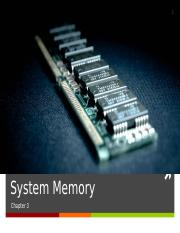 Chapter 3 - System Memory [Notes]