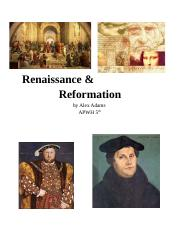 Renaissance and Reformation.docx
