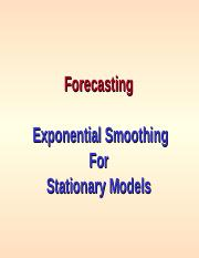 Forecasting-Exponential Smoothing.ppt