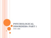 PSYCH 2000-Psychological Disorders-Modules 48,50,52
